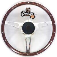 """Vw Transporter T2 T3 15"""" Classic Wood Rim Steering & Wheel Boss Badge Horn"""
