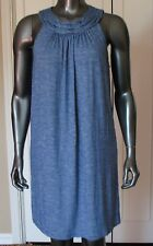 NWT MAX STUDIO NAVY BLUE / WHITE STRIPE DRESS SIZE S $98.00