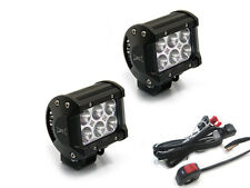 Super Bright 18W CREE LED Spotlights & Wiring Switch Kit for Motorbikes & Quads
