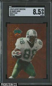 1998 Playoff Prestige Bronze Draft Pick Randy Moss RC Rookie SGC 8.5 NM-MT+