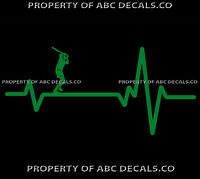 VRS Heart Beat Line BASEBALL FAST SLOW PITCH Softball Bat Hitter CAR VINYL DECAL