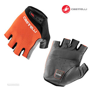 NEW 2021 Castelli ENTRATA V Summer Cycling Gloves : FIERY RED
