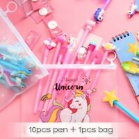 10Pcs/Set Gel Pen Unicorn Pen Stationery Kawaii School Supplies