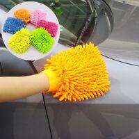 Doble Cara Microfibra Auto Coche Lavado de Polvo Limpieza Guante