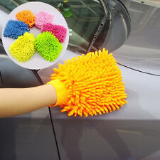 Durable Double Sided Mitt Microfiber Car Dust Cleaning Cleaner Glove Towel FT