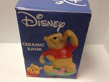 Winnie the Pooh Bank Bear Eating Honey Figurine Money Piggy Bank Enesco Disney
