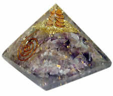 Amethyst Stone Orgone Pyramid Reiki Gemstones Spiritual Energy Generator
