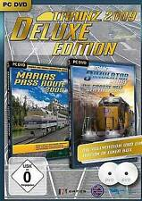 TRAINZ 2009 DELUXE EDITION + ADDON MARIAS PASS ROUTE Train Simulator Neuwertig