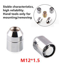4+1Stainless STEEL WHEEL LOCKS Nut M12x1.5 CHROME LOCKING LUG NUTS Universal Kit