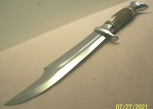 1950's~EDGE MARK~469~GERMAN STAG BOWIE~RHINO PATTERN HUNTING & FIGHTING KNIFE~