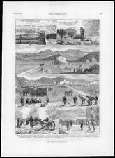 1874-Antiguo Impreso España Guerra Carlista Bilbao Monte janedo Krupp Batería (168)