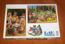 Vintage 1980's FX Schmid FOREST FAMILIES Sylvanian Jigsaw Puzzle 2x48 pcs Euro