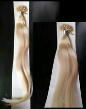 """20"""" Blonde Remy Human Hair U-tip extensions #60. 40 tips/50gr"""