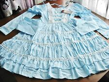 Bodyline Sweet Lolita Blue Eyelet Lace Detachable Sleeve OP Dress Size M NWT
