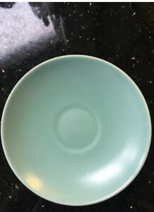 Poole Pottery Twintone Ice Green Saucer.