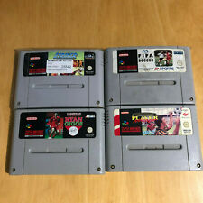 Super Nintendo SNES Games - Striker, FIfa Soccer, Kevin Keegan, Ryan Giggs