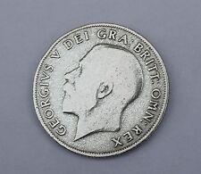 1921 Re Giorgio V argento inglese britannico SHILLING 50% di contenuto d'argento 1/- Bob B