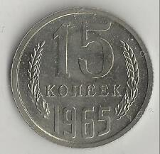 RUSSIA,  1965,  15 KOPEKS,  COPPER-NICKEL-ZINC,  Y#131,  BRILLIANT UNCIRCULATED