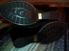 UGG collection handmade italy over the knee sheepskin wedge boots SIZE 7