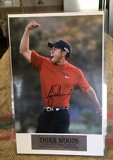 Tiger Woods Autographed Poster Signature Certified Authentic