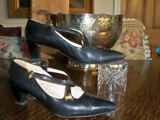BALDININI BLACK PUMPS WITH CROSS OVER STRAP UK 6 EU 39    MADE IN ITALY