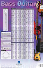 Bass Guitar Poster Music Scales Exercises Fretboard Chart 23x35 Hal Leonard NEW