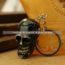 fashion 5pcs key chain Alchemy Gothic Lost Tribe Death pendant black skull
