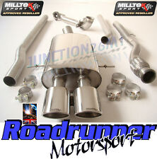 Milltek Mini Cooper S R56 R58 Turbo Back Exhaust Non Res & Decat Downpipe T/OVAL
