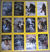 National Geographic Magazines Complete Year 12 Issues 1990