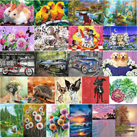 5D DIY Diamond Painting Flower Butterfly Embroidery Cross Stitch Mosaic Kit Home