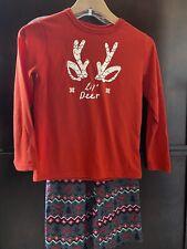 Wondershop Boys Pajamas Size 8 Christmas Deer Pre Owned Red