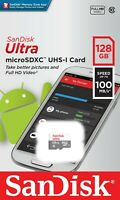 SanDisk® Ultra® 128GB microSDXC™ Memory Card UHS-I C10 Speed up to 100MB/s New