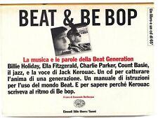 JACK KEROUAC BEAT GENERATION E BE POP JAZZ HOLIDAY FITZGERALD BASIE LIBRO + CD