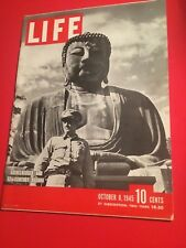 VINTAGE OCTOBER 8,1945 LIFE MAGAZINE FEATURING 12TH CENTURY BUDDHA VN CONDITION