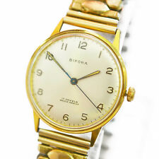 Vintage Original BIFORA Armbanduhr Herrenuhr Handaufzug vergoldet
