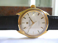 UNIVERSAL GENEVE AUTOMATIC POLEROUTER SUPER, DATE, GOLD PLATED MICRO ROTOR 1965