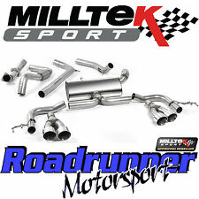"Milltek Honda Civic Type R 2015 Exhaust FK2 3"" Cat Back ROAD+ System Non Res Pol"