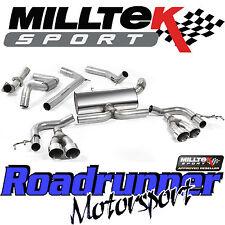 "Milltek Honda Civic Type R 2015 Exhaust FK2 3"" Cat Back ROAD+ System Non Res Pol"