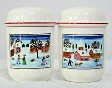 Villeroy & Boch Naif Christmas Laplau Village Scene Salt & Pepper Shaker set