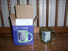 Attack on Titan Scout Emblem Glass Mug Loot Anime Crate Exclusive