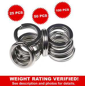 Stainless Steel Heavy Duty Fishing Split Rings Big Game Saltwater Extra Strong