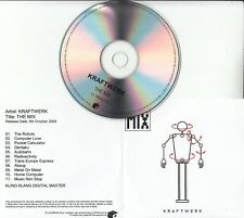 KRAFTWERK The Mix 2009 UK Mute remastered 11-track promo test CD