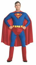 MENS SUPERMAN FANCY DRESS COSTUME DC SUPERHERO ADULT OUTFIT HALLOWEEN BOOK DAY