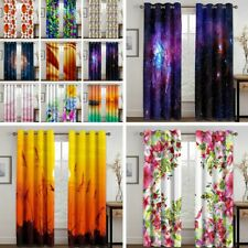 2 Panels Art Print Window Curtains Living Room Bedroom Blackout Drapes Curtains