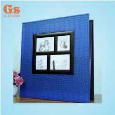 High-grade PU 6 inch 400 Pockets photo album for family (blue)