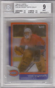 1986-87 Topps Vault Patrick Roy 86 ROOKIE RC #53 BGS 9 MINT Color Key Proof OPC