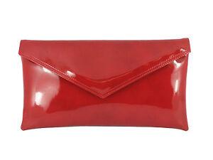LONI Womens Girls Clutch Bag/Shoulder bag Wedding Party Prom Envelope Patent bag