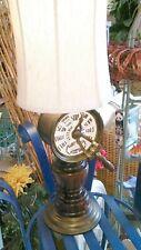 "Antique Baldwin-Brockett Ship's Telegraph Lamp and Shade 31"" Tall"