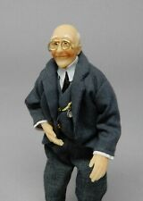 Vintage Poseable Victorian Grandfather Doll Dollhouse Miniature 1:12