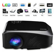1200 Lumens 1080P Projector 3D HDMI USB VGA AV Interfaces Home Theater Cinema US